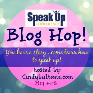 Speak Up blog hop button