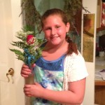 "My girl after her performance in ""Annie"""