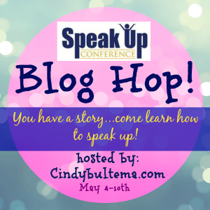 Speak Up blog hop button